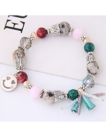 Elegant Multi-color Smiling Face Decorated Bracelet