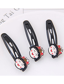 Cute Multi-color Cartoon Pattern Decorated Hairpin (3pcs)