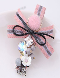 Lovely Pink Bowknot&flower Decorated Hairpin
