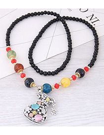 Fashion Multi-color Gourd Pendant Decorated Long Necklace