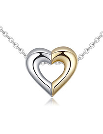 Fashion White Color-matching Decorate Heart Necklace