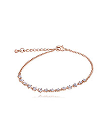 Elegant Rose Gold Star Shape Decorated Bracelet