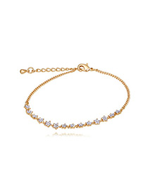 Elegant Gold Color Star Shape Decorated Bracelet