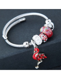 Fashion Red+silver Color Flamingo Shape Decorated Braclet
