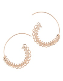 Trendy Gold Color Pure Color Decorated Simple Earrings