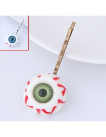 Personality White Eye Shape Decorated Hairpin