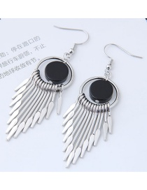 Bohemia Silver Color Tassel Decorated Earrings