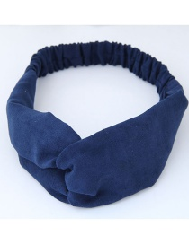 Fashion Sapphire Blue Pure Color Decorated Headband