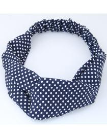 Fashion White+blue Spot Pattern Decorated Headband