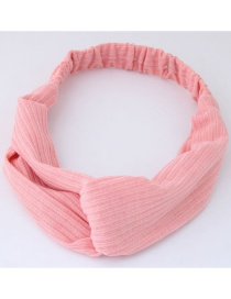 Fashion Pink Pure Color Decorated Headband