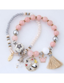 Fashion Multi-color Rabbit&crown Shape Decorated Bracelet