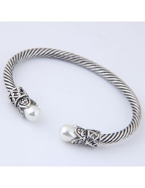 Fashion Silver Color Pearl Decorated Bracelet