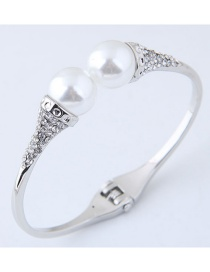 Fashion Silver Color Pure Color Decorated Bracelet