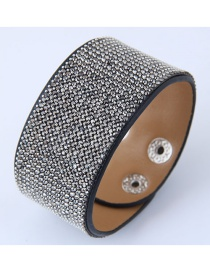 Fashion Gray Pure Color Decorated Width Bracelet