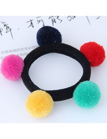 Fashion Multi-color Fuzzy Balls Decorated Hair Band