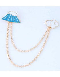 Trendy White+blue Skirt Shape Decorated Simple Brooch