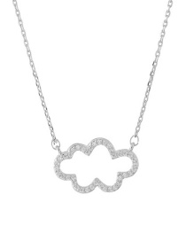 Lovely Silver Color Clouds Shape Decorated Necklace
