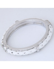 Fashion Silver Color Weaving Decorated Bracelets