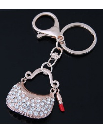 Fashion Gold Color Bag Shape Decorated Keychain