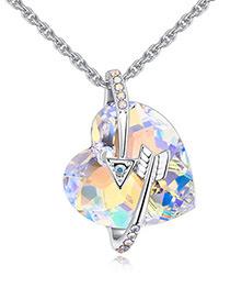Fashion Multi-color Heart Shape&arrows Decorated Necklace