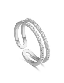 Fashion Silver Color Pure Color Decorated Open Rings