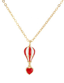Elegant Red Parachute Shape Decorated Necklace