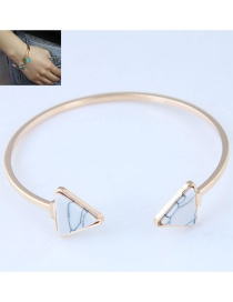 Fashion White Triangle Shape Decorated Bracelet