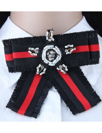 Fashion Red+black Star Shape Decorated Brooch