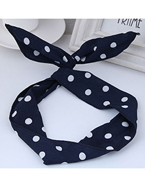 Lovely Navy Dot Shape Decorated Hair Band