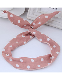 Lovely Pink Dot Shape Decorated Hair Band