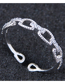 Fashion Silver Color Hollow Out Shape Decorated Opening Ring