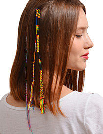 Fashion Multi-color Tassel Decorated Hair Band