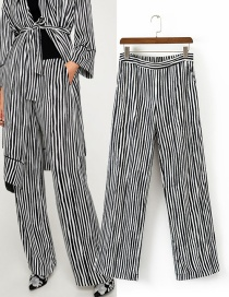 Fashion Multi-color Stripe Pattern Decorated Long Pants