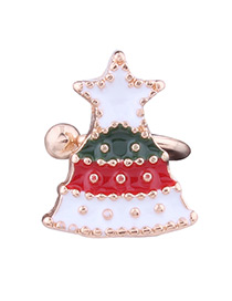 Lovely Multi-color Christmas Tree Shape Decorated Ear Clip