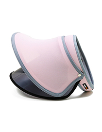 Fashion Pink Pure Color Decorated Sunscreen Hat(adjustable)