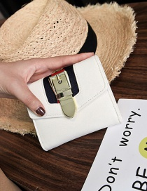 Vintage White Color-matching Decorated Wallet