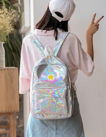 Lovely Silver Color Cartoon Pattern Decorated Simple Backpack