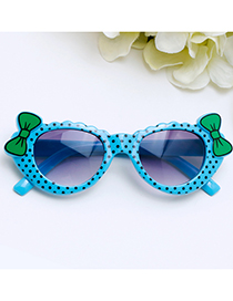 Lovely Blue Bowknot Shape Decorated Children Sunglasses