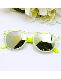 Fashion Yellow Color-matching Decorated Children Sunglasses
