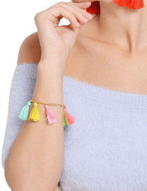 Fashion Multi-color Tassel Decorated Bracelet