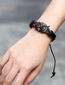 Fashion Black Owl Shape Decorated Bracelet