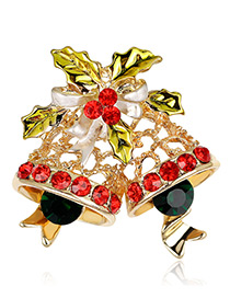 Fashion Gold Color Bells Shape Decorated Brooch