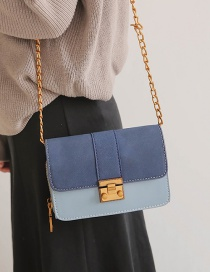 Fashion Blue Button Decorated Shoulder Bag