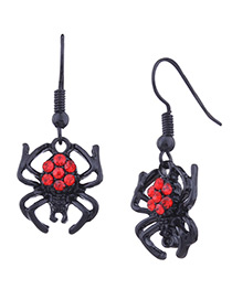 Fashion Black Spider Shape Decorated Simple Earrings