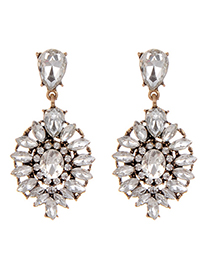 Fashion Silver Color Water Drop Decorated Earrings