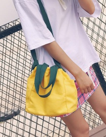 Fashion Yellow Color Matching Decorated Shoulder Bag