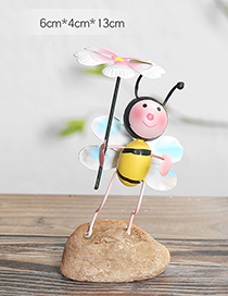 Lovely Yellow+pink Flower&bee Decorated Color Matching Handicrafts