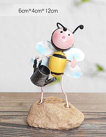 Lovely Yellow+pink Pot&bee Decorated Color Matching Handicrafts