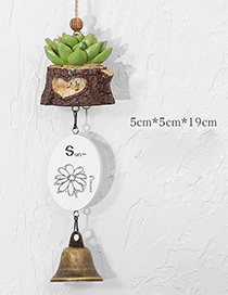 Fashion Green Succulent Plants Decorated Wind Chimes