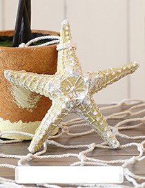 Fashion Beige Starfish Shape Decorated Hook Ornaments(middle)